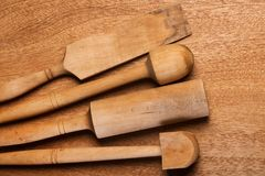 Kitchen. Wooden utensil Stock Photos