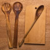 Kitchen. Wooden utensil Stock Photo