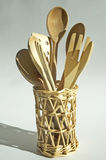 Kitchen wooden utensils Royalty Free Stock Images