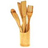 Kitchen wooden utensils Stock Images