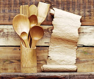 Kitchen wooden utensils Royalty Free Stock Photography