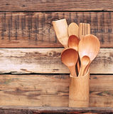 Kitchen wooden utensils Stock Photo