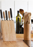 Kitchen with worktop, knife block ceramic hob Stock Image