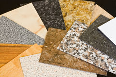 Kitchen worktop sample swatches Royalty Free Stock Photography