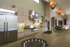 Kitchen Worktop Unit At Home stock photography