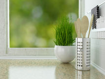 Kitchen worktop. Stock Photo