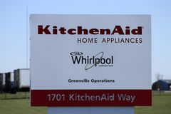 Greenville - Circa April 2018: KitchenAid Greenville operations factory, where Whirlpool produces KitchenAid brand mixers I Stock Photos