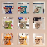 Kitchenaid machines on display at HOMI, home international show in Milan, Italy Royalty Free Stock Image