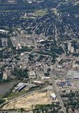 Kitchener Waterloo aerial. Aerial view of the city of Kitchener Waterloo in Ontario Canada Royalty Free Stock Image
