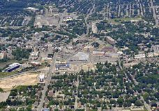Kitchener Waterloo aerial. Aerial view of the city of Kitchener Waterloo in Ontario Canada stock images