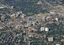 Kitchener Waterloo aerial. Aerial view of the Victoria Park area of Kitchener Ontario Canada Stock Photos