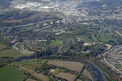 Kitchener Waterloo antenn Royaltyfri Bild