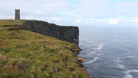 Kitcheners Memorial on Marwick Head in the Orkney Islands stock footage