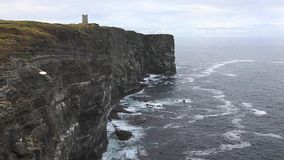 Kitcheners Memorial on Marwick Head, Orkney Islands, northern Scotland stock video footage