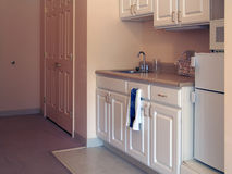 Kitchenette. In small apartment in assisted living complex Stock Photos