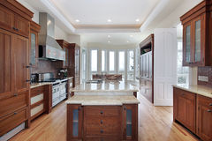 Kitchenn with recessed ceiling royalty free stock photo