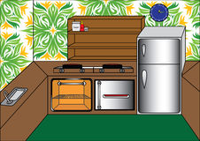 Kitchenvector Immagine Stock