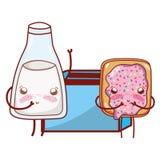 Kitchenware и мультфильм ингредиентов иллюстрация вектора