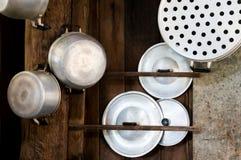 Kitchenware старого стиля в Таиланде Стоковые Изображения
