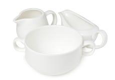 Kitchenware фарфора Стоковое Изображение RF