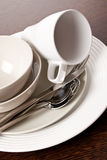 Kitchenware. Photo shot of kitchenware on wooden table stock image