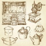 Kitchenware. Utensils - vintage hand drawn collection Royalty Free Stock Photo