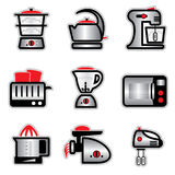 Kitchenware. Set vector images and icons of kitchenware and kitchen tools Royalty Free Stock Images