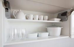 Kitchenware branco imagens de stock royalty free