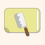 Kitchenware chopping board and knife theme elements vector,eps. Vector illustration file Stock Images