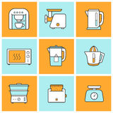 Kitchenware color icons set Royalty Free Stock Photography
