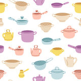 Kitchenware colorful seamless pattern Royalty Free Stock Photo