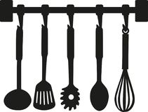 Kitchenware cooking tools. Occupation vector Royalty Free Stock Images