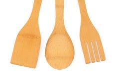 Kitchenware de madeira Fotografia de Stock
