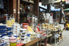 Kitchenware at General store Stock Photo