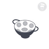 Colander. Kitchenware icon colander, flat Vector computer graphics Stock Photography