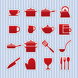 Kitchenware icon set Royalty Free Stock Photos