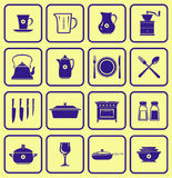 Kitchenware Icon Set (Vector). Set of vector icons - Kitchenware Stock Image