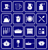 Kitchenware Icons 01. This is a vector image - you can simply edit colors and shapes Royalty Free Stock Images
