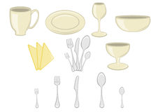 Kitchenware icons Stock Image