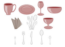 Kitchenware icons Royalty Free Stock Image