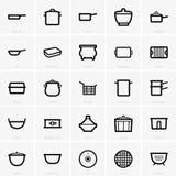 Kitchenware icons royalty free illustration