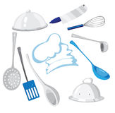 Kitchenware. Illustration of a set kitchenware Royalty Free Stock Photography