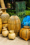 Kitchenware made of bamboo Royalty Free Stock Images