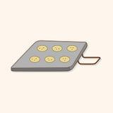 Kitchenware modułu tematu elementów wypiekowy wektor, eps Zdjęcia Stock