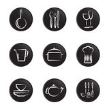 Kitchenware object set Royalty Free Stock Photo
