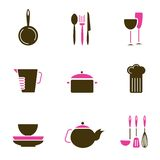 Kitchenware object set vector. Set of kitchenware object set vector Royalty Free Stock Images