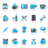 Kitchenware objects and equipment icons Royalty Free Stock Images