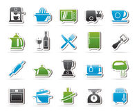 Kitchenware objects and equipment icons Stock Images