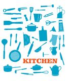 Kitchenware objects set Stock Photo