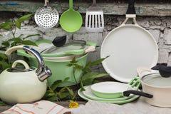 Kitchenware Outdoors Стоковые Изображения
